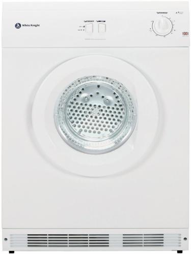 WHITE KNIGHT BLACK 7KG VENTED TUMBLE DRYER - WK44A7B