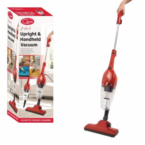 QUEST RED 600W 2 IN 1 UPRIGHT AND HANDHELD VACUUM CLEANEER - 44820