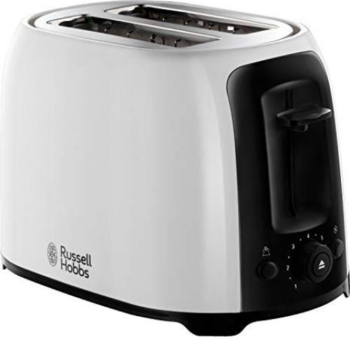 RUSSELL HOBBS WHITE MY BREAKFAST 2 SLICE TOASTER - 25210
