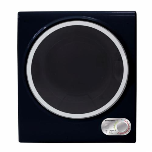 MONTPELLIER BLACK 2 5KG COMPACT VENTED TUMBLE DRYER - MTD25K